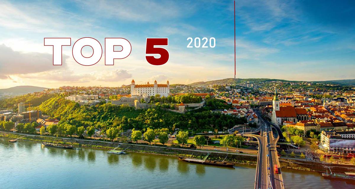 TOP 5 bratislavských gastro podnikov za rok 2020